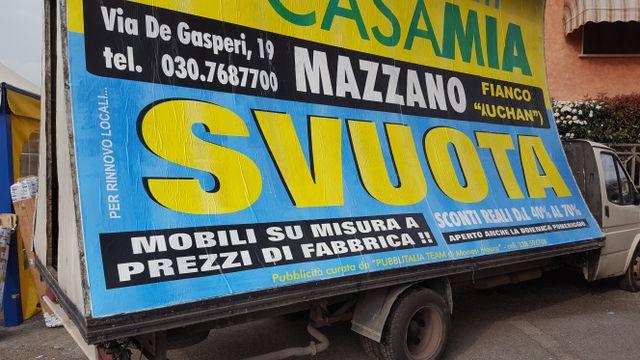 furgone pubblicitario