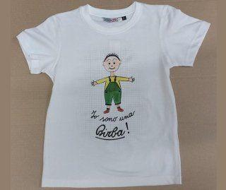 maglia bianca con scritto  Io sono una Birba e un bambino disegnato