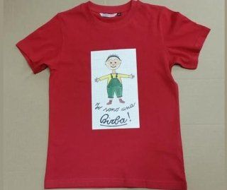 maglia rossa  con scritto  Io sono una Birba