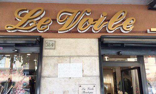 Insegna della boutique a Roma