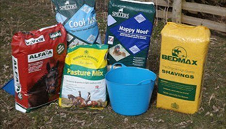 Horse feed and haylage
