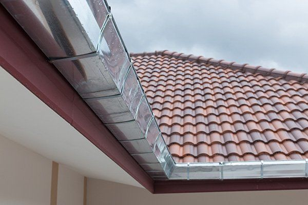 Gutter roof of the residential building