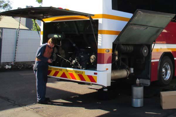 Repairing a bus