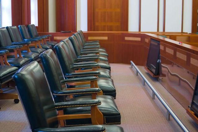 empty seats in court room