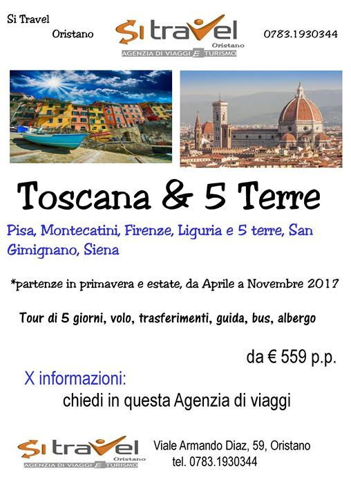 Locandina Toscana e 5 Terre