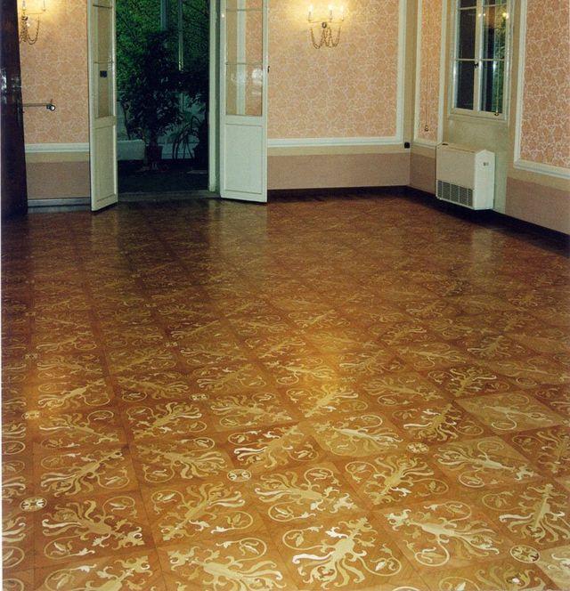 vista di un pavimento in una casa