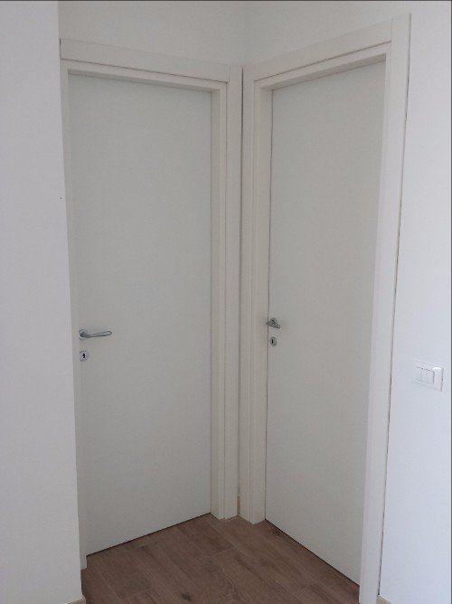 Porta di terrazza di PVC bianco