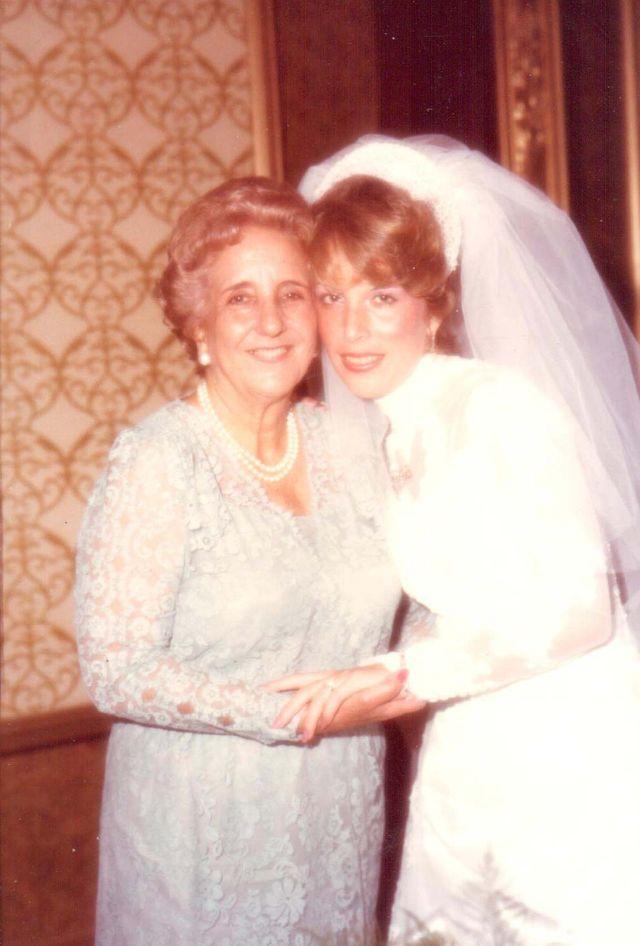 Mirta Martin and her grandmother