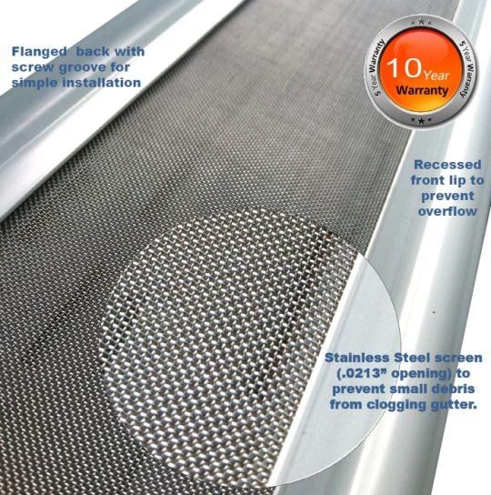 Imperial Seamless Gutters   Gutter Guards for Leafs   Gutter