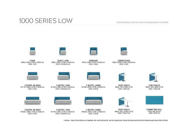 DS2 SOFT SEATING | 1000 SERIES LOW