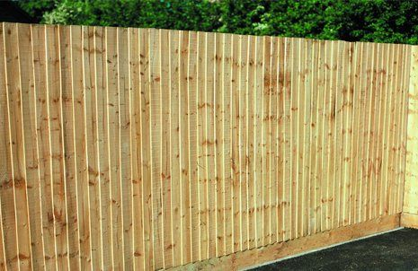 Close board fencing in pale wood