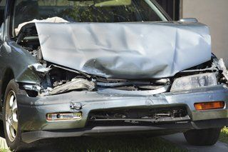 Totaled car from drunk driving accident in Asheboro, NC