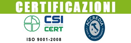 Loghi di certificazioni ottenute dalla ditta di lavorazioni meccaniche