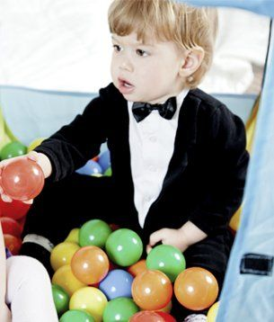 Young boy in a custom tailored suit