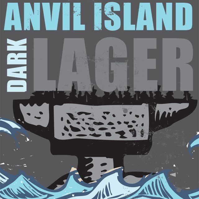 Anvil Island Dark Lager Beer Label