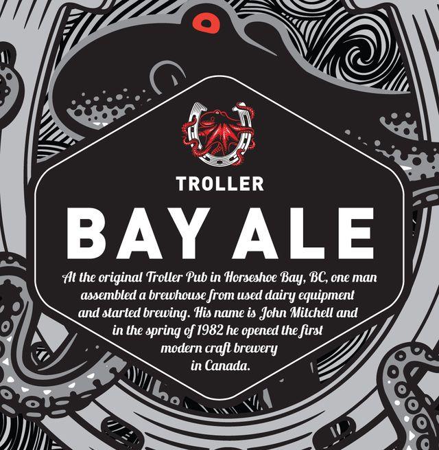 Troller Bay Ale Beer Label