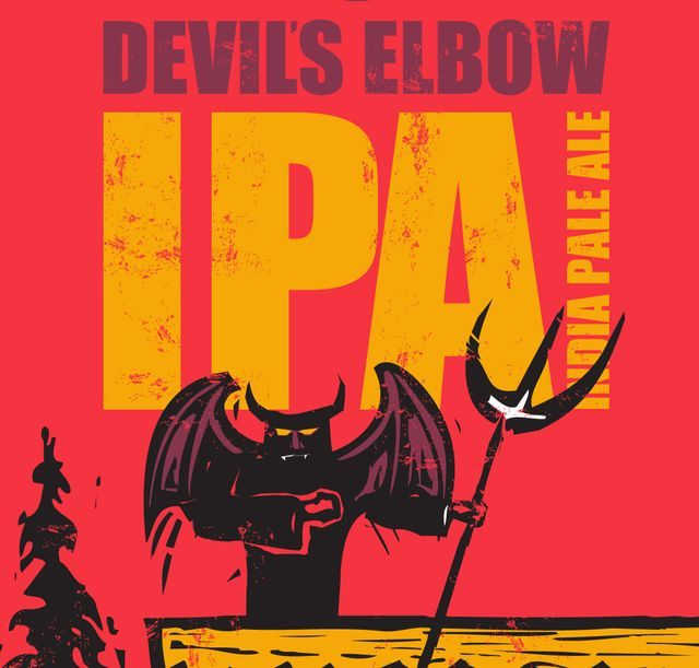 Devil's Elbow IPA India Pale Ale Beer Label