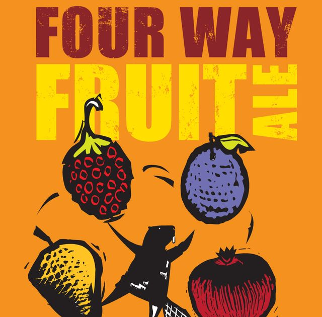 Four Way Fruit Ale Beer Label