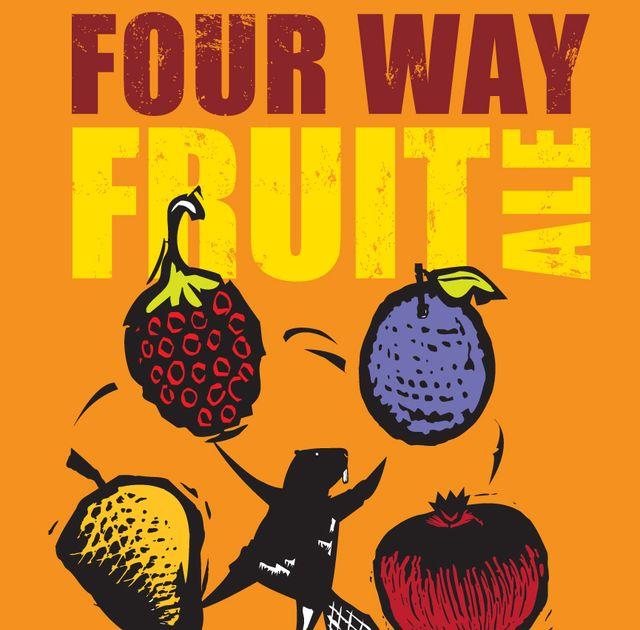 Four Way Fruit Ale Beer Label