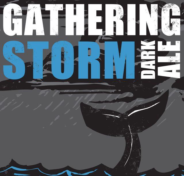 Gathering Storm Dark Ale Beer Label