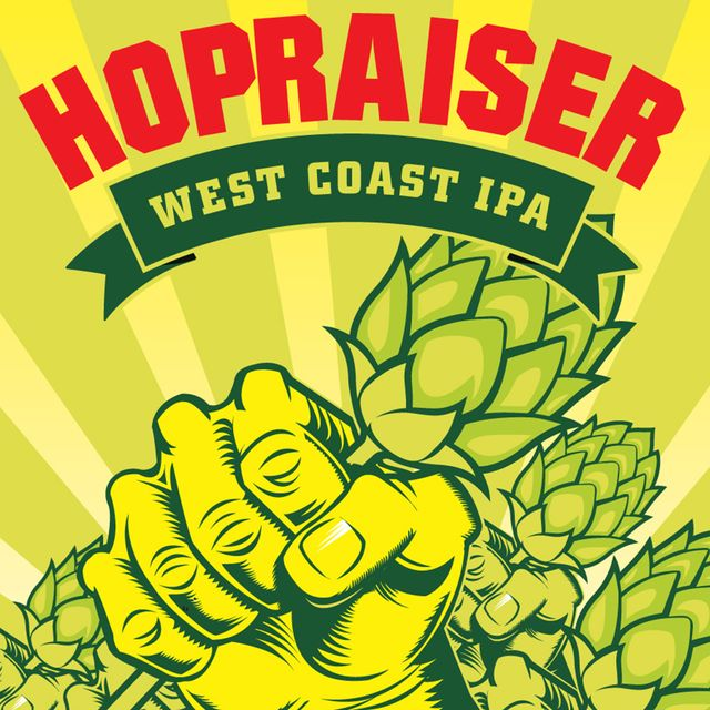 Hopraiser West Coast IPA Beer Label