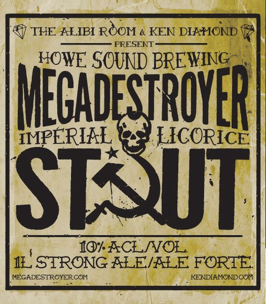 Megadestroyer Imperial Licorice Beer Label