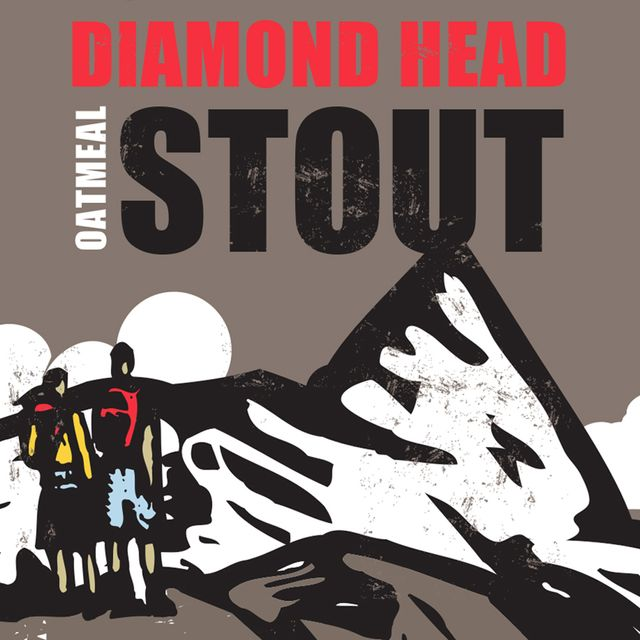 Diamond Head Oatmeal Stout Beer Label