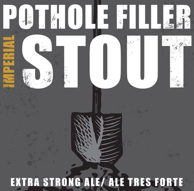 Pothole Filler Imperial Stout Beer Label