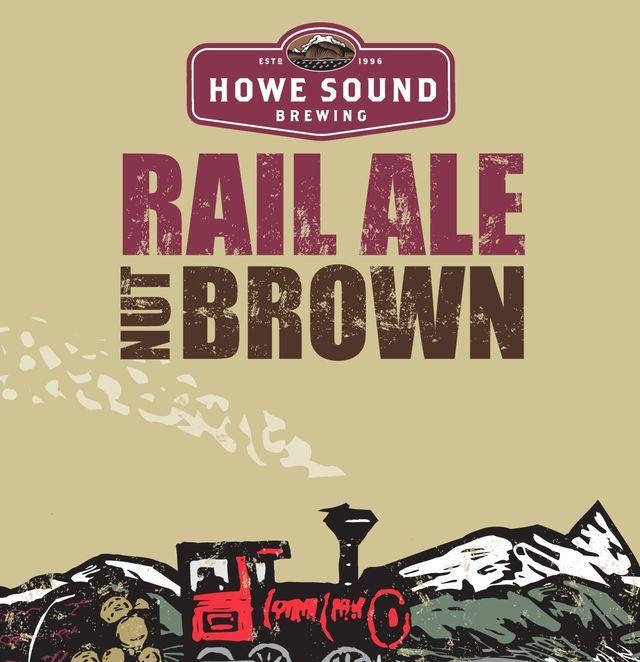 Raile Ale Nut Brown Beer Label