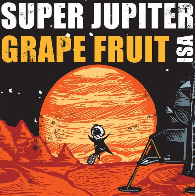 Super Jupiter Grape Fruit ISA Beer Label
