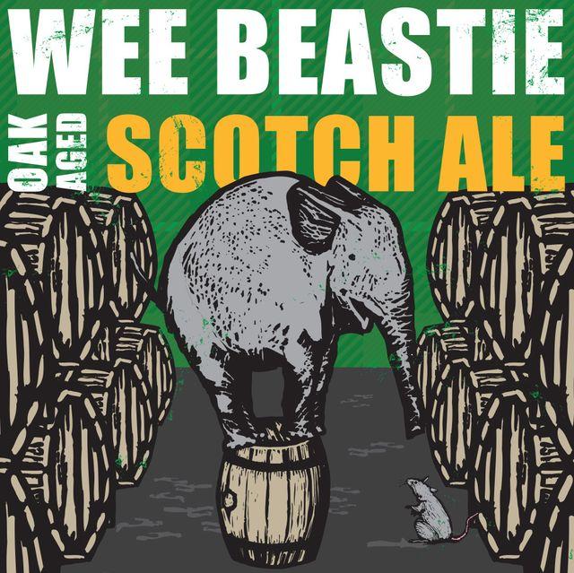 Wee Beastie Oak Aged Scotch Ale Beer Label
