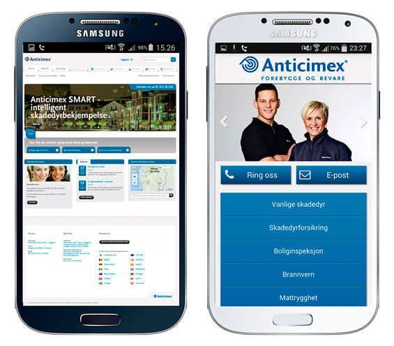 Anticimex Norge mobilside