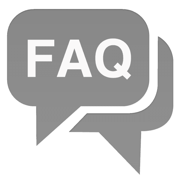 FAQ speech bubble