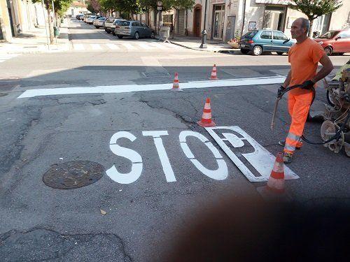 stop - segnaletica orizzontale