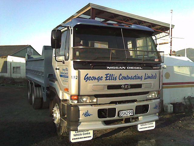 Close up excavation machine in Dunedin