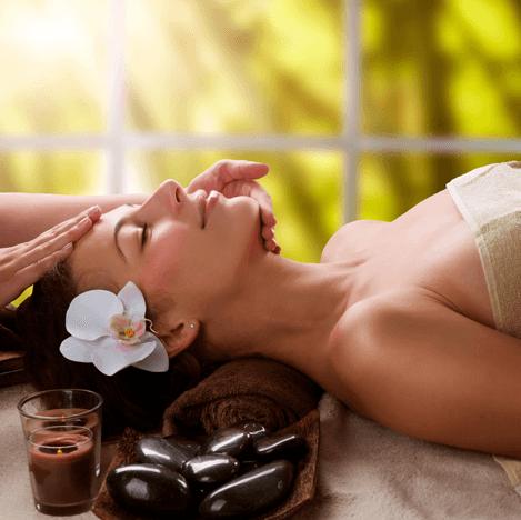 a lady undergoing a massage