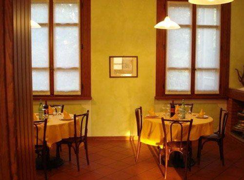 veduta interna del ristorante