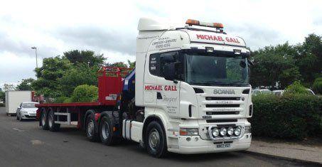 artic hiab lorry