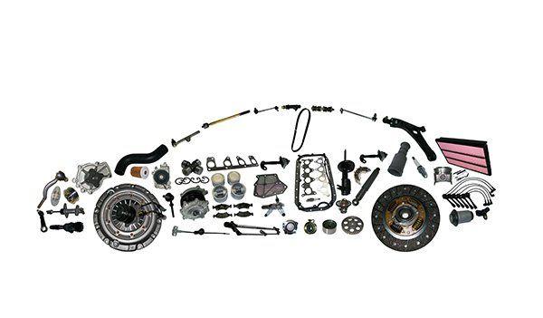 I pezzi dell'auto fanno l'auto