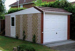 Pent Mansard concrete garages