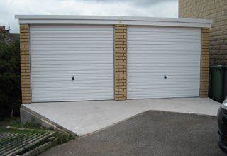 Pent uPVC concrete garage