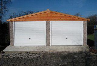 Apex double concrete garages