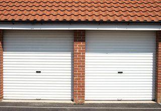 Double door garage