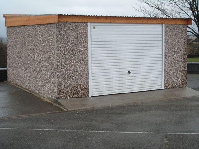 Pent reverse fall concrete garage