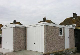 Bespoke concrete garages