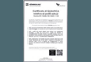 certificato qualifica profili estrusi