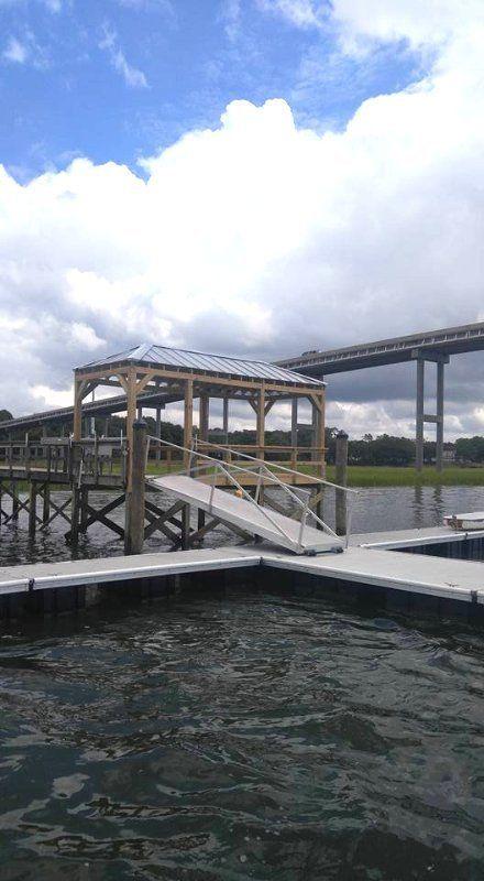Boat Dock Oak Island, NC