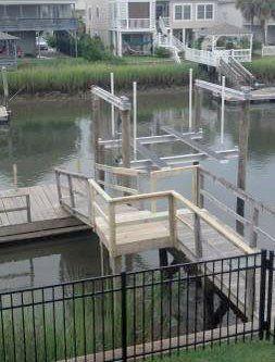 Boat Lift Installation Ocean Isle Beach, NC