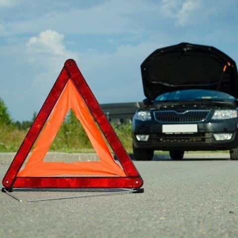 A car breakdown on the road