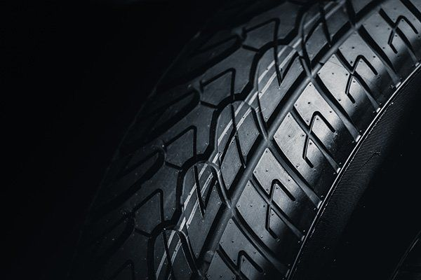 Primo piano di un pneumatico